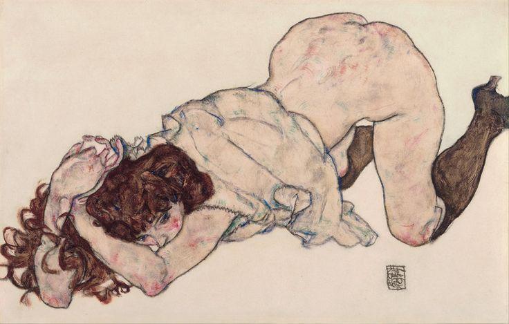 Γονατιστό κορίτσι ακουμπισμένο στους αγκώνες (1917)