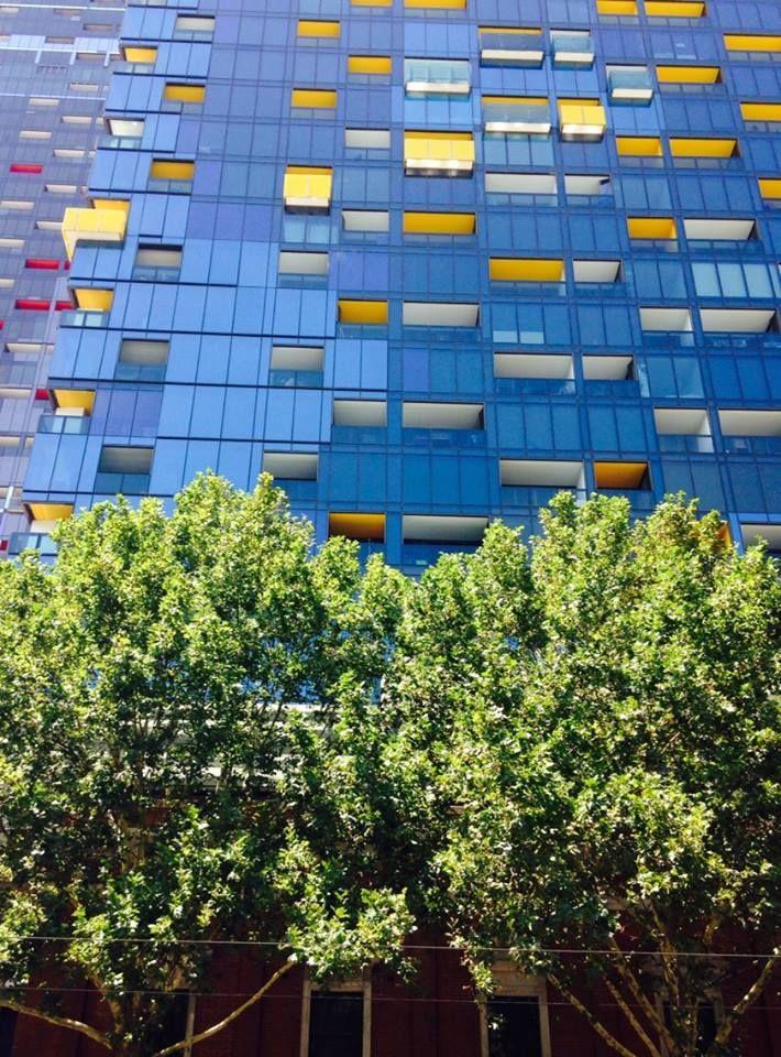 """Old"" Melbourne brickwork and greenery meets glistening glass behemoth in Spencer Street"