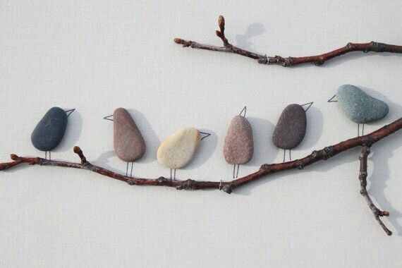 A DIY nature scene using Twigs, pebbles and other things