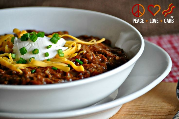 Kickin' Chili – Low Carb, Gluten Free.  Plus it's a slow-cooker recipe!