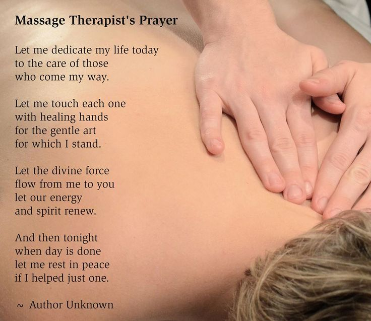 Massage Therapist Prayer. Make And Appointment. Http://revive Massage