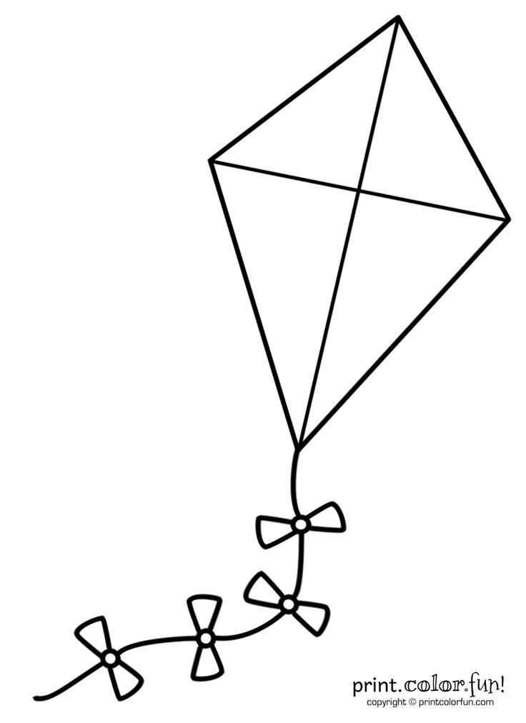 Big kite coloring page - Print. Color. Fun!