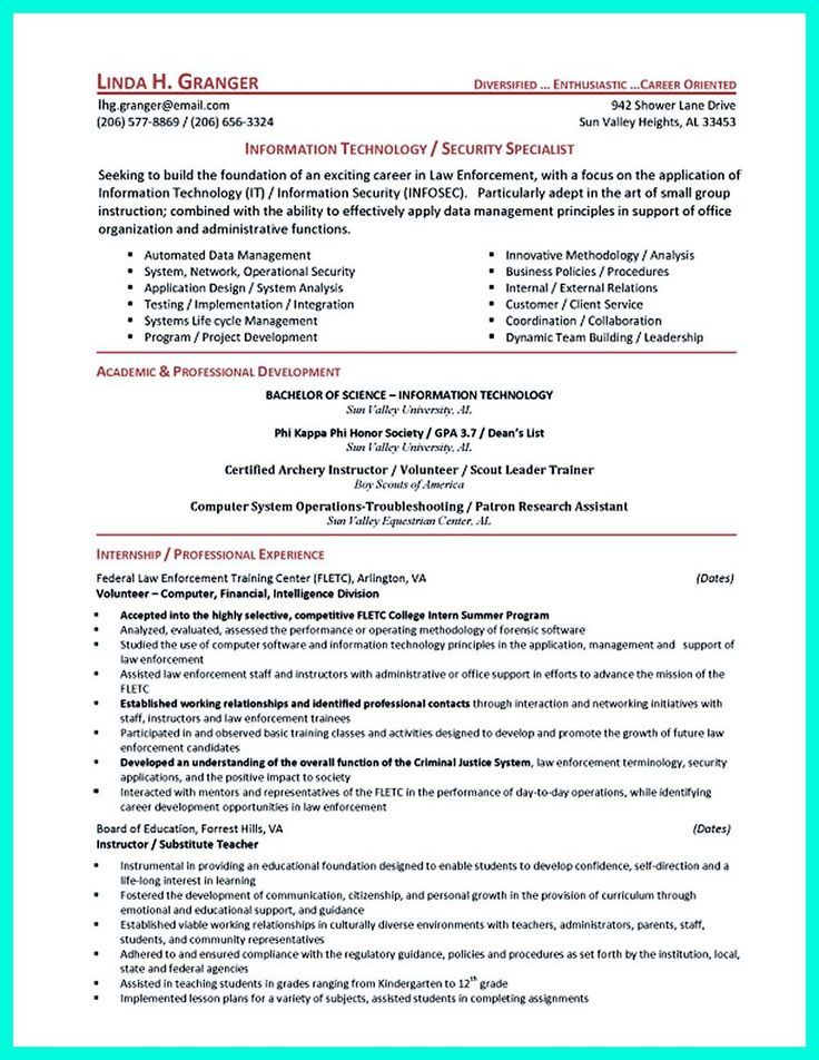 Cyber security resume must be well created to get the job position as what you want. The job positions can be many but they will not be yours as you c... entry level cyber security resume Check more at http://www.resume88.com/powerful-cyber-security-resume-get-hired-right-away/
