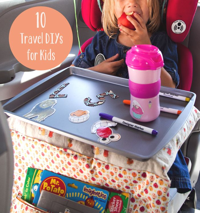 10 DIYs for Making Travel with Kids a Whole Lot Easier. Love the sleepover pillow idea!