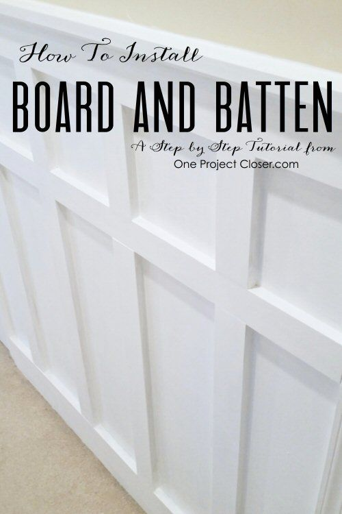 How to install board and batten.  Great step by step tutorial
