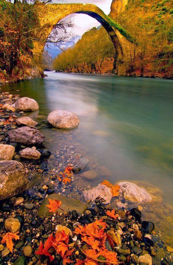 Ancient Konitsa Bridge, Epirus ,Greece: by laohu