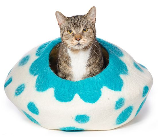 KittiKubbi felted cat bed