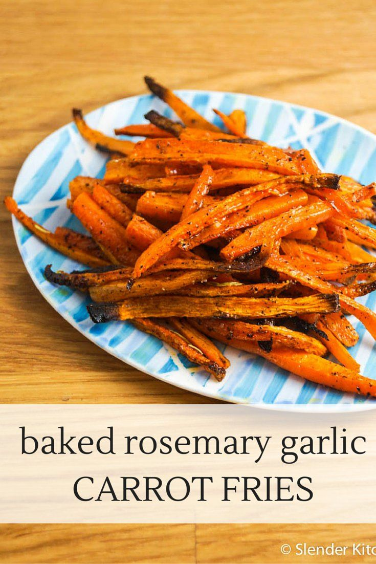 One of my favorite ways to make healthier fries is with carrots or parsnips. The texture is pretty close to potatoes and they have just enough sweetness to make them appealing to kids and adults alike.