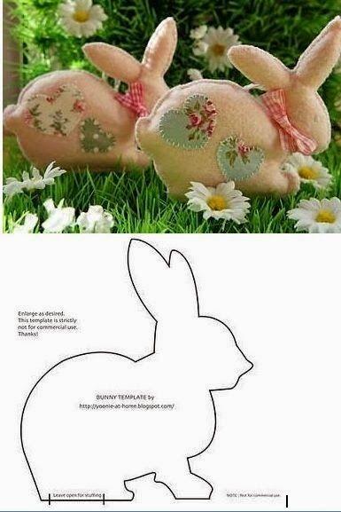 Facilite Sua Arte: Coelhinho da Páscoa - Molde - 06