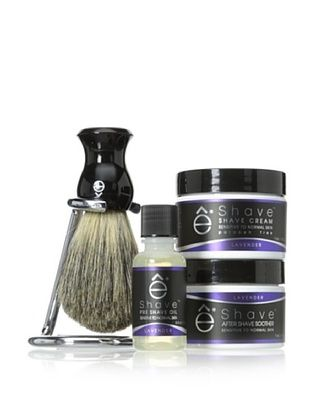50% OFF eShave 4-Piece Minimalist Kit with Stand in Lavender Scent, Black