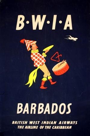 """""""BWIA - Barbados"""" Poster by Aldo Cosomati (1953)"""