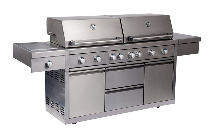 Grand Turbo 6 Burner Barbeque on Cart with Side Burner. Bring your outdoor entertaining to new levels with the Grand Turbo 6 Burner barbeque on Cart with Side Burner.