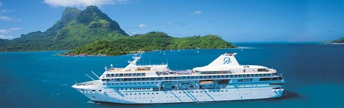 The Paul Gauguin luxury cruise line - featuring itineraries only in Tahiti and French Polynesia