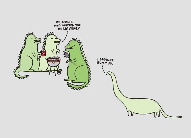 """Who Invited the Herbivore?"" - Threadless.com - Best t-shirts in the world"