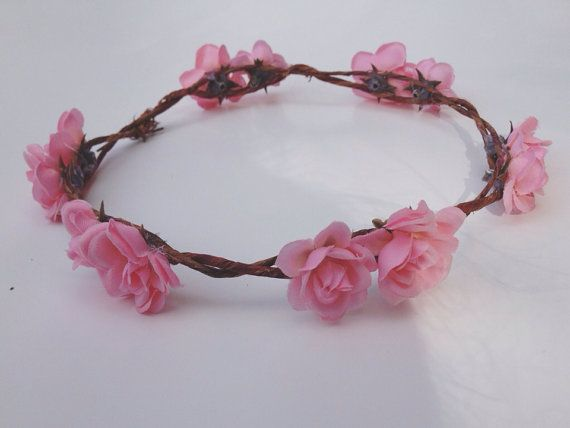Flower Crown Flower Headband Floral Wreath by tanyaslittleshop