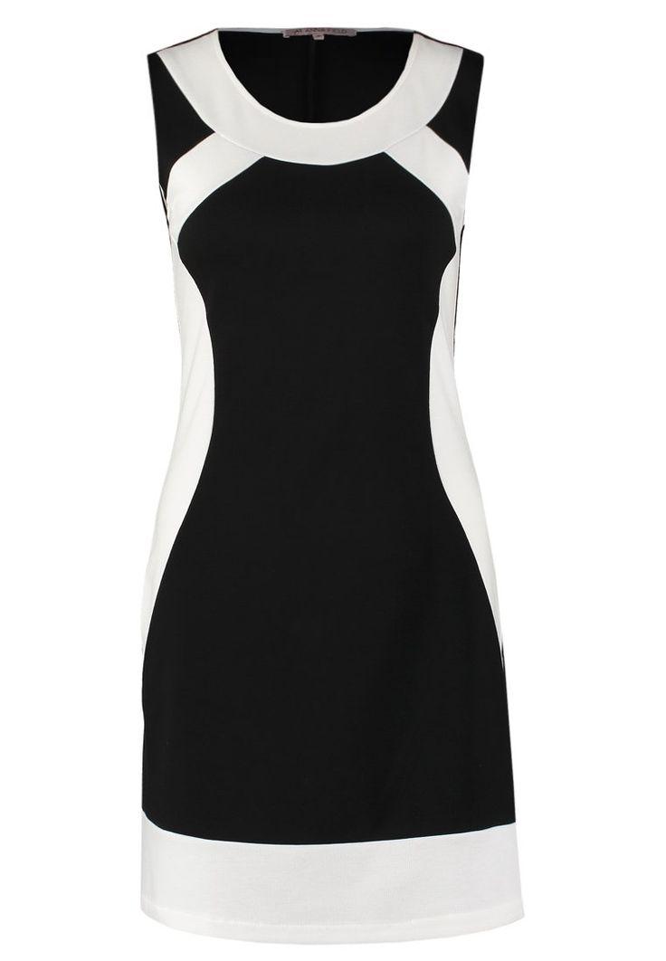 Anna Field Vestido de algodón - white/black - Zalando.es