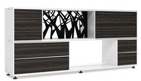Dark-wood-storage-contemporary office-furniture