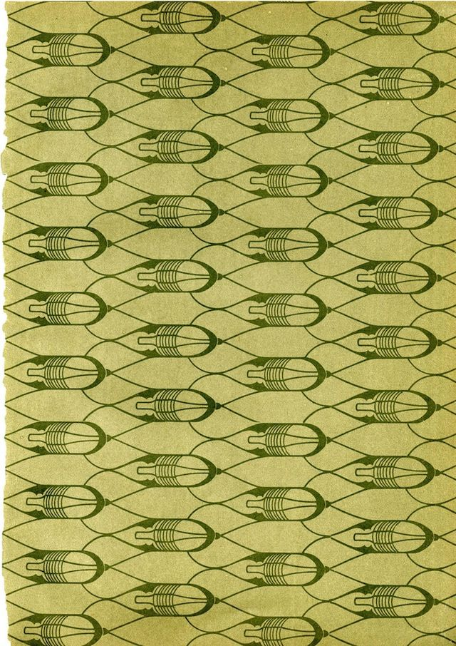 The Lost Beauty of Book End Papers: Lattice pattern (1890-1930)