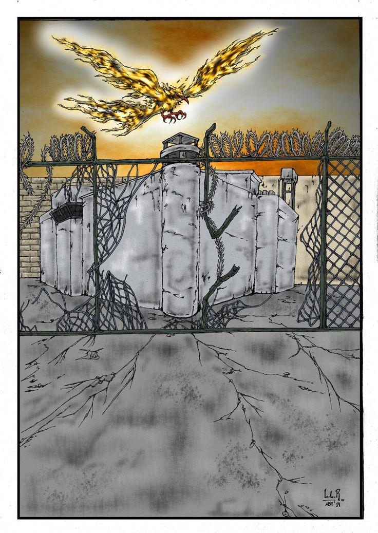 Ilustración para un afiche y tapa de un CD Hoja A3 - Lápiz 2B - Estilógrafo 0.1 - Color digital con GIMP 2.8 + Tableta Wacom Bamboo Connect.
