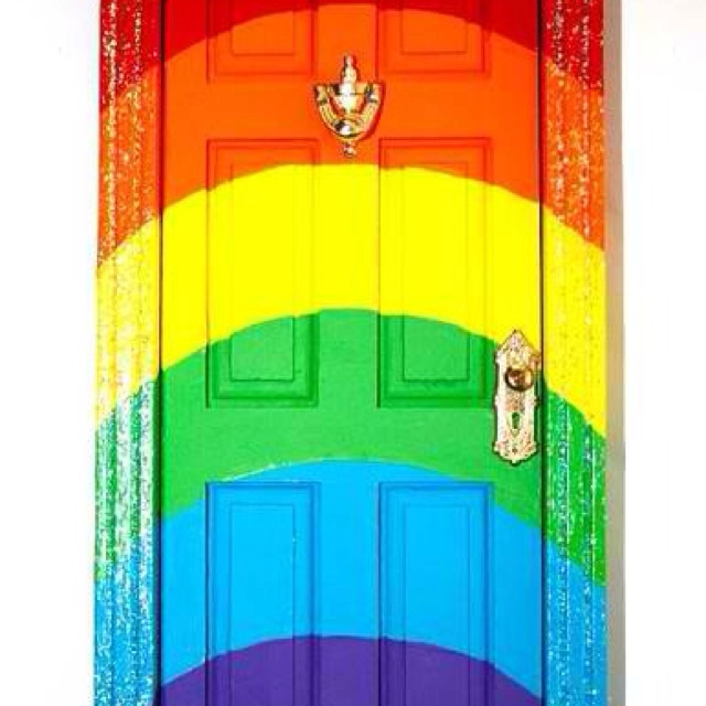 17 best images about rainbow home on pinterest for Rainbow fairy door