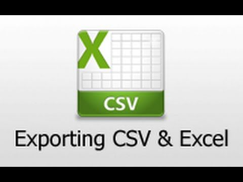 (10) Ruby on Rails - Railscasts #362 Exporting Csv And Excel - YouTube