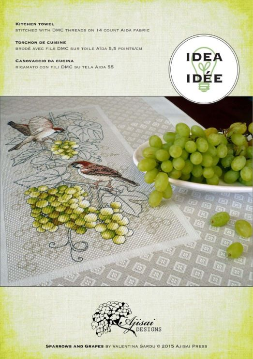 Gallery.ru / Фото #1 - Ajisai Designs - Sparrows and Grapes - tymannost