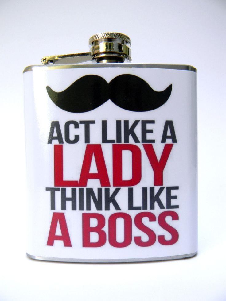 Flask : Act Like A Lady. $20,00, via Etsy.