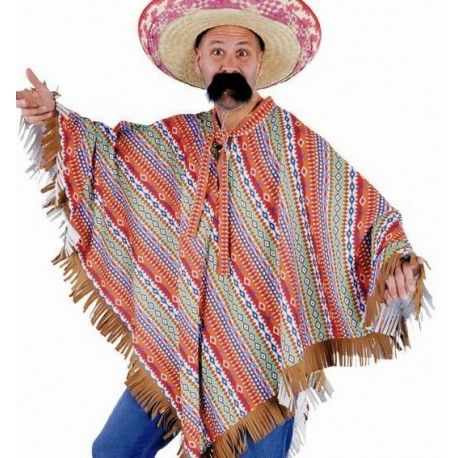 Costume Poncho Mexicain Adulte Deguisement Poncho Inca