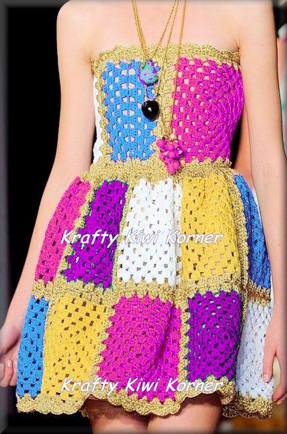 Handmade Vintage-Inspired 1970s Crochet by KraftytKiwiKorner