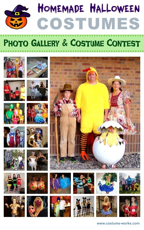 "Homemade Halloween Costumes - Lots of Costume Ideas! Some of these are priceless...like the ""little old man"" complete with a walker."