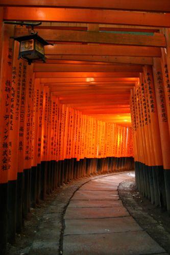 Fushimi Inari Taisha, Kyoto, Japan (possibly from a memorable scene in 'Memoirs of a Geisha'?)