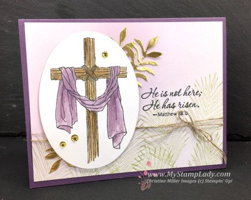 Stampin' Up! Easter Message handmade Easter greeting card. Find Supplies at www.shopwithmystamplady.com