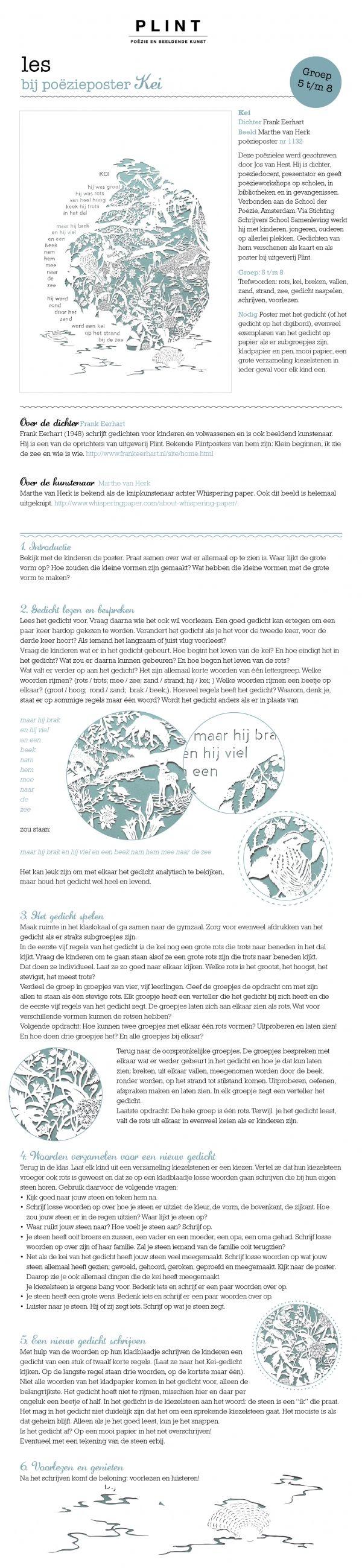 'Kei' door Frank Eerhart. Les bij poëzieposter van Plint - poëzie en beeldende kunst. Illustratie: Marthe van Herk