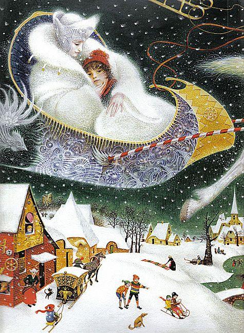 Illustration (detail) by Kiev artist, Vladislav Erko from The Snow Queen by Hans Christian Andersen