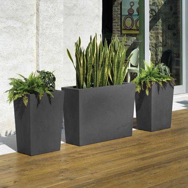 Pots de fleurs gratiano gris 600 600 pixels for Jardin interieur lyon