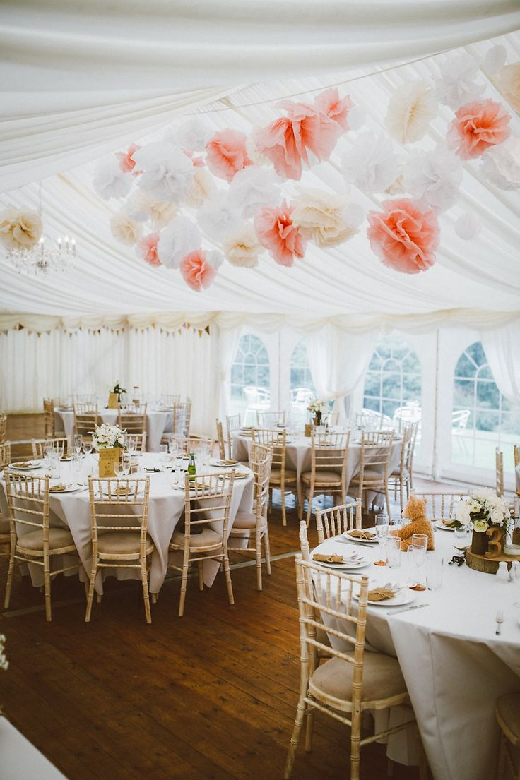 Marquee Pom Poms Local Fun Home Made Marquee Wedding http://www.alextentersphotography.co.uk/