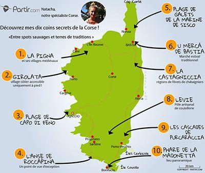 Carte Corse Bastia.Carte Des Coins Secrets Corse Travel En 2019 Corse Carte