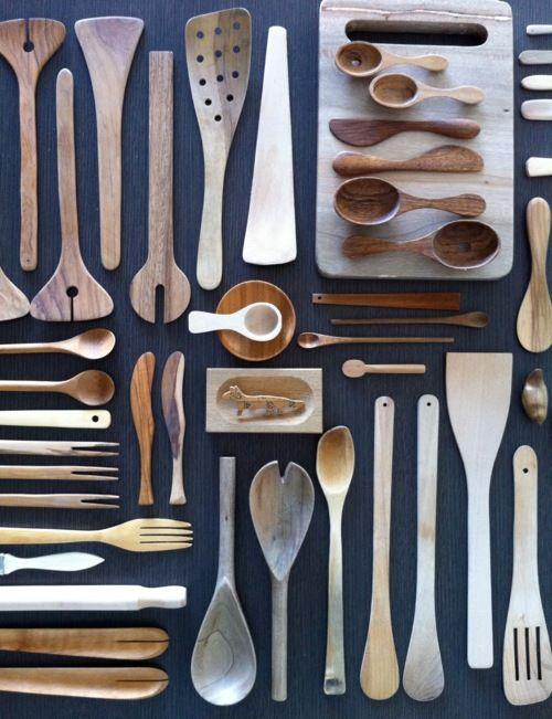 Beautiful wooden utensils.