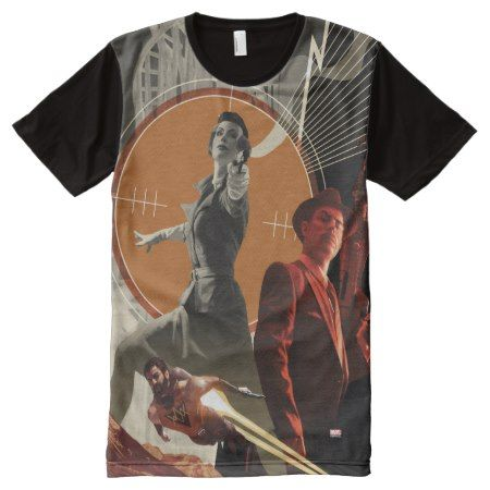 Agent Carter And Howard Stark Collage All-Over-Print T-Shirt - tap, personalize, buy right now!