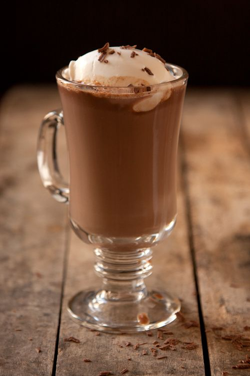 Irish Hot Chocolate...INGREDIENTS  1 cup milk  Pinch salt  2 oz. milk chocolate, finely chopped  2 tbsp. Irish cream liqueur, such as Bailey's  Whipped cream and shaved chocolate, for serving    INSTRUCTIONS  Heat milk in a 1-qt. saucepan over medium heat until just beginning to bubble at edges, about 3 minutes. Remove from heat, add chocolate and liqueur, let sit for 1 minute, then whisk until smooth. Serve with whipped cream and chocolate shavings.