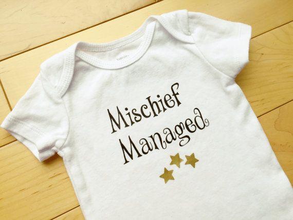 Mischief Managed Onesie / Baby Onesie Funny / Baby Harry Potter / Unisex Baby Clothes