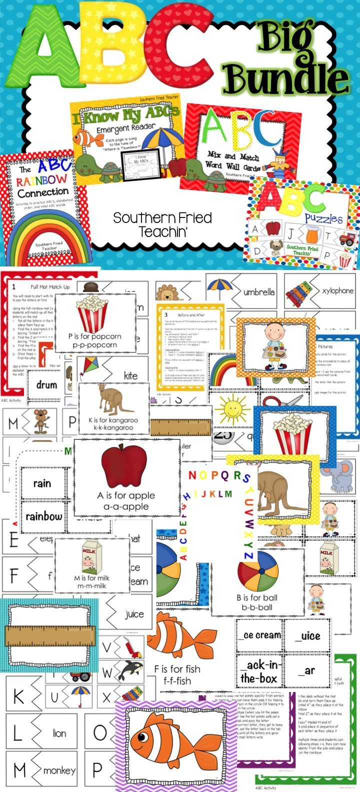 shoe stores in los angeles ABC Activities   Beginning Sounds   ABC Big Bundle   Save       4 different sets of activities to help students practice their ABCs and beginning sounds