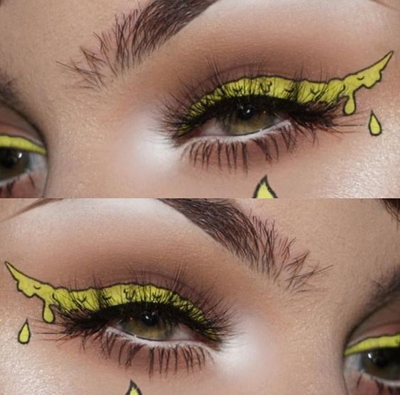 Slime Liner - Color Outside the Lines With These Graphic Eyeliner Looks - Photos