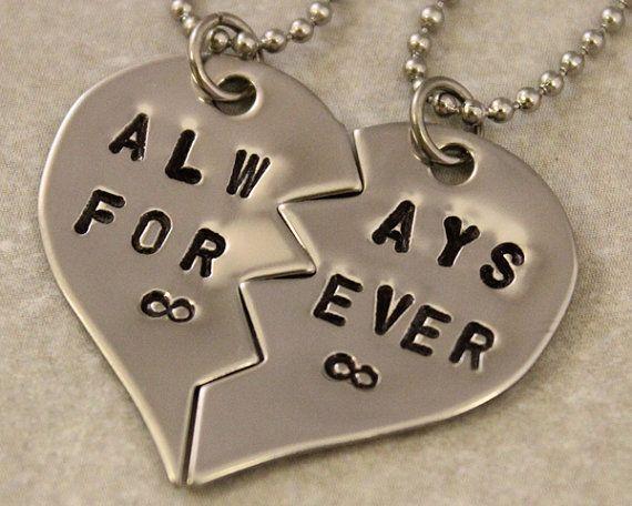 Always Forever Infinity Necklaces  Couples Jewelry  by TwentySix7, $25.00