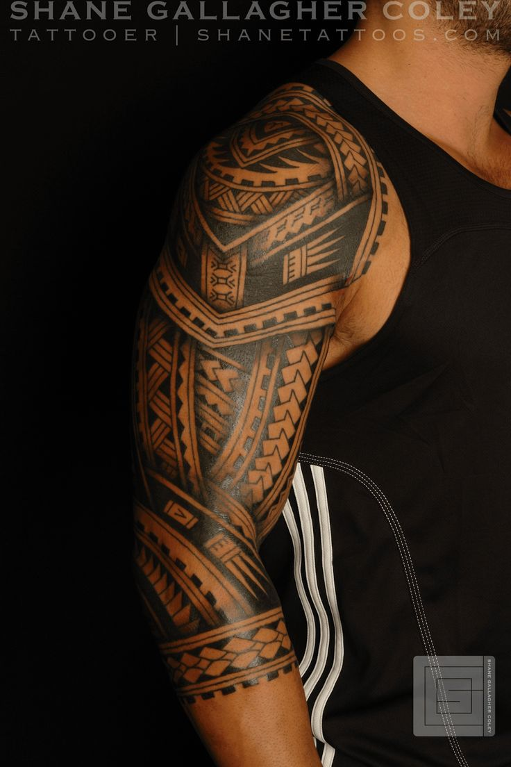 Maori Sleeve Tattoos For Men: SHANE TATTOOS: Polynesian Sleeve Tatau Tattoo