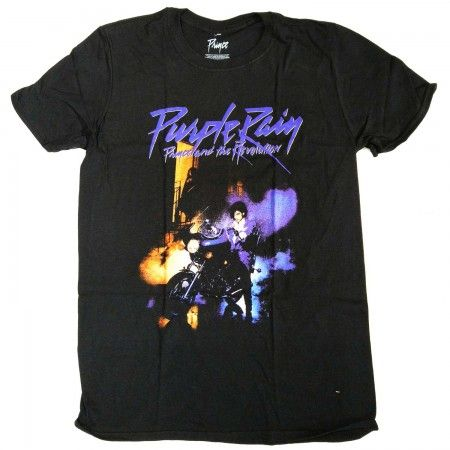 Prince T Shirt - Purple Rain 100% Official Full Colour Album Cover from Old Skool Hooligans