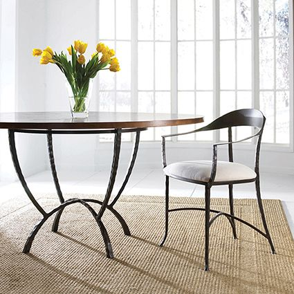 Pictured Is The Hudson Wrap Dining Arm Chair And Table