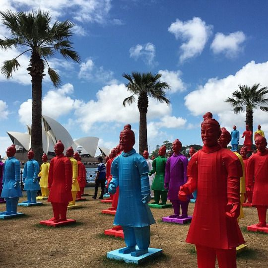 Lanterns of the Terracotta Warriors, Chinese New Year Sydney celebrations at Hickson Road Reserve. #CNYSYD #operahouse Photo credit: Joanne Wilkinson