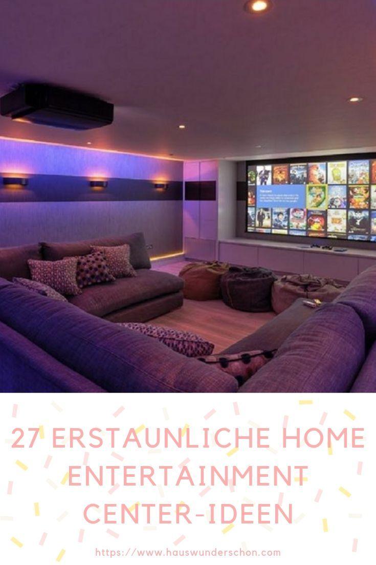 27 Erstaunliche Home Entertainment Center-Ideen, die die Menschen lieben werden