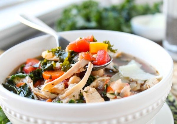 This hearty, healthy soup is full of flavor from the Parmesan rind that you add while cooking. Plus, eating kale makes you feel like a Super Human. It's ea